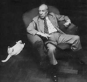 Borges and cat