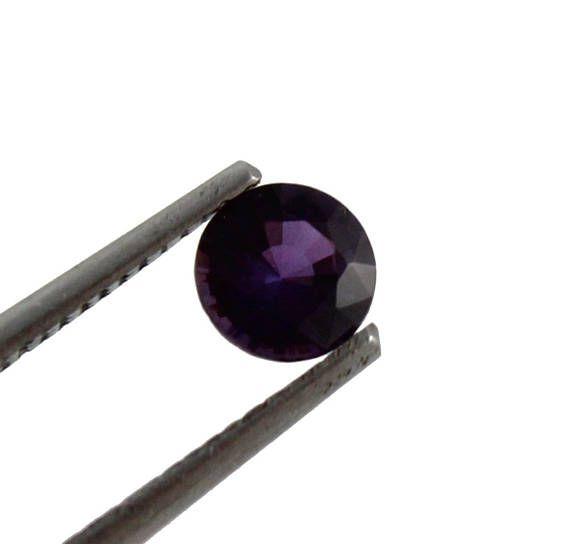 Purple Magenta Sapphire round cut 0.47 carat loose gemtone