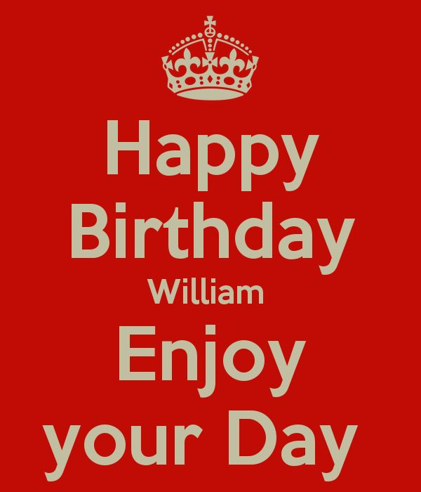 Afbeeldingsresultaat voor happy birthday william