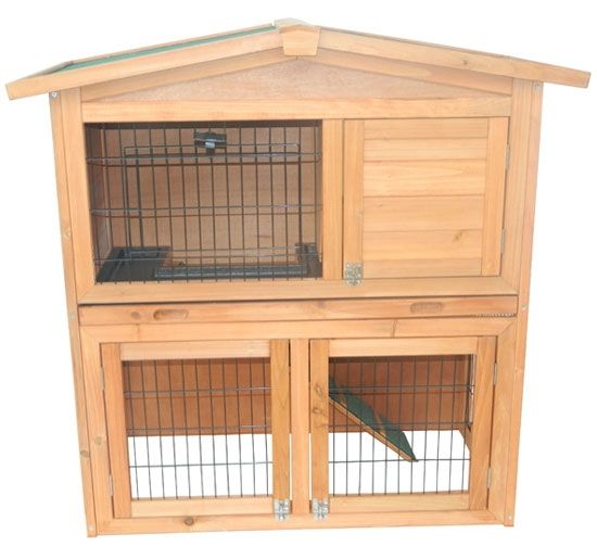 Wooden rabbit cage plans woodworking projects plans for Wood hutch plans