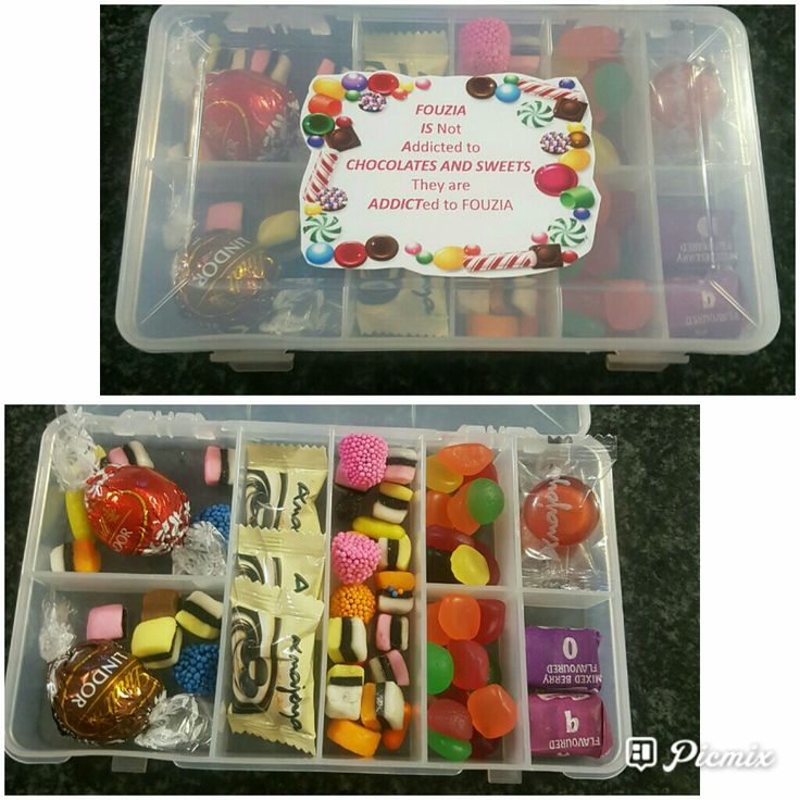 Novelty chocolate and sweets gift