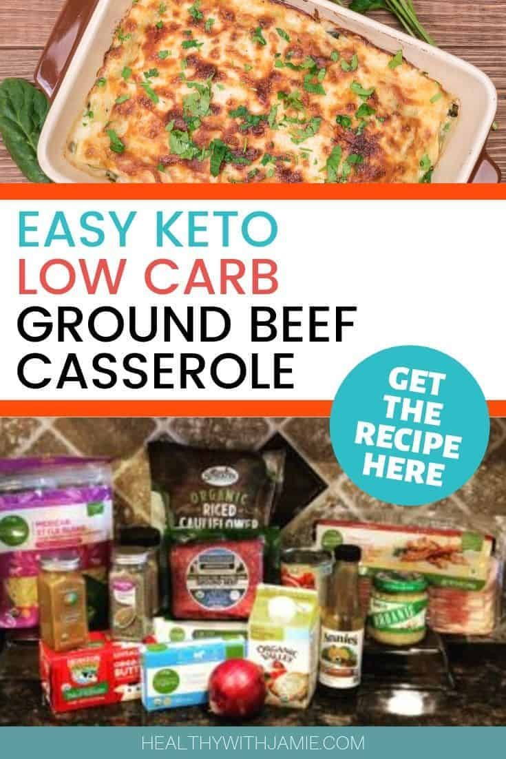 Keto Mexican Casserole Recipe Ground Beef Or Turkey Healthy With Jamie Recipe Recipes Easy Casserole Recipes Ground Beef