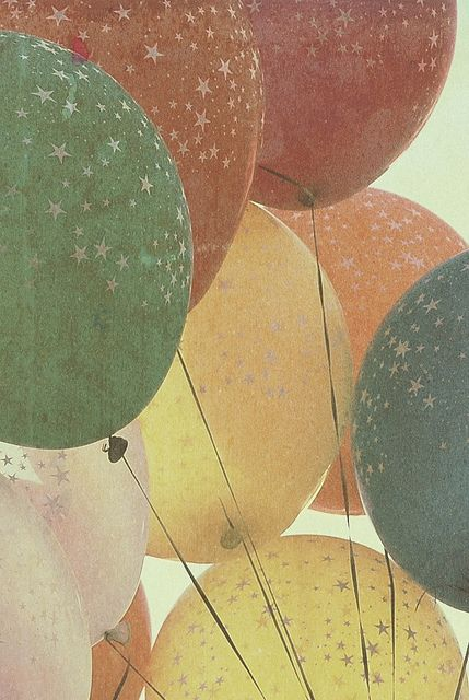 As simplistic and pretty this photo is, it makes me feel a bit melancholic. The balloons remind me of children, but the faded and out-wash look gives me the message of the drifting away of one's childhood.