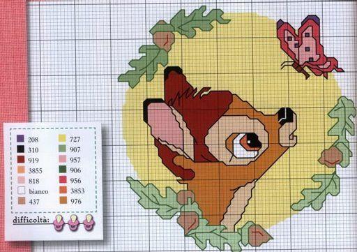 Bambi cross stitch