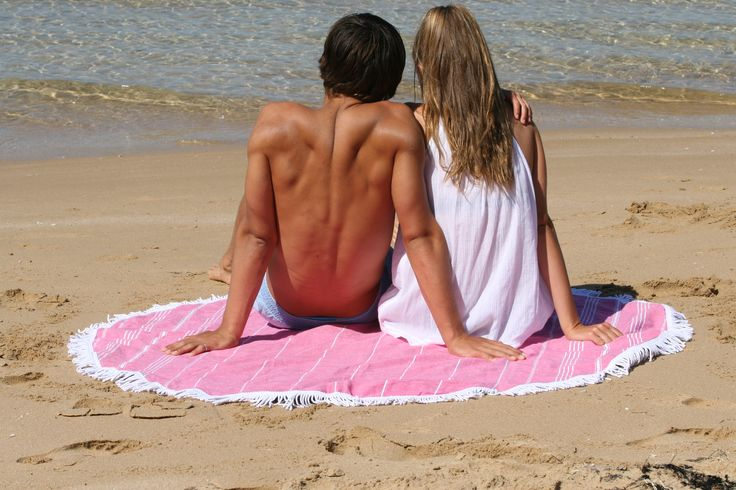 A day well spent with the Knotty Round Retro Turkish towel. Available online at www.knotty.com.au
