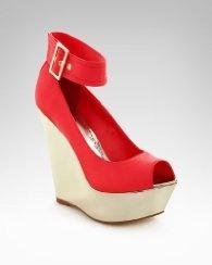 Isabel Mirror Metallic Wedge Sandal. ーMe Likey