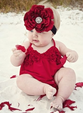 The babe in red...