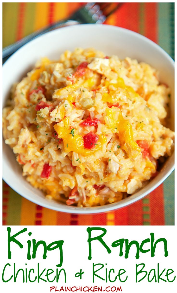 King Ranch Chicken and Rice Bake | Plain Chicken®
