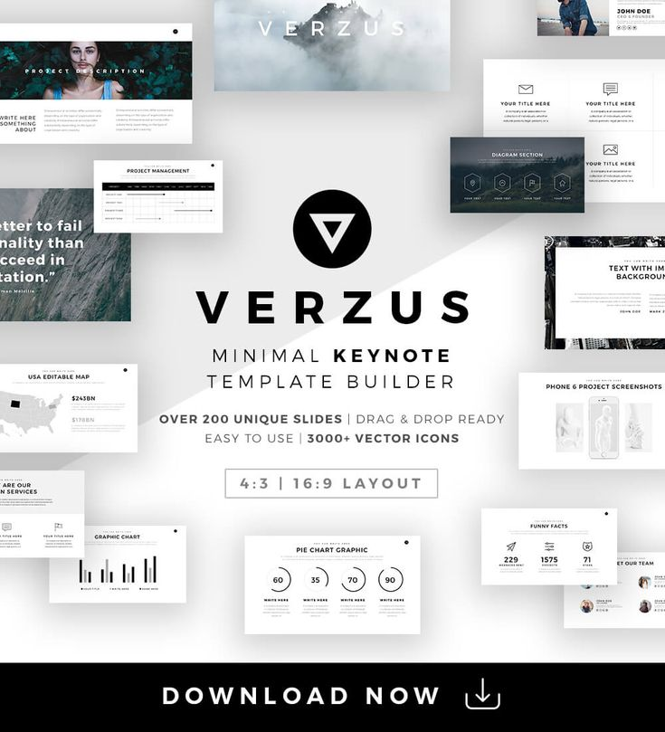 Keynote Version for Mac Users Is also Available here  About Building your presentation from scratch has never been so easy. With Verzus Minimal PowerPoint Template now you can create a powerful and...
