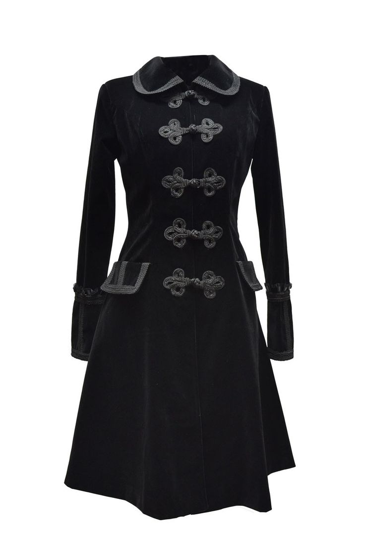 Manteau velours victorien - Femme - Pentagramme