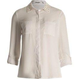Chemise blanche col clouté sur Jennyfer.com ♥
