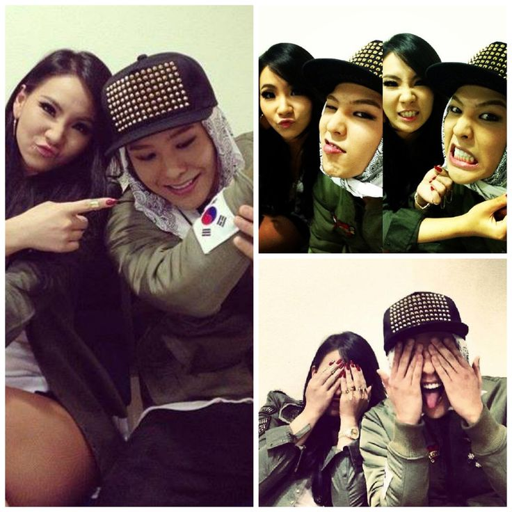 YG group leaders GD & CL being such cuties together :] photos from GD's instagram