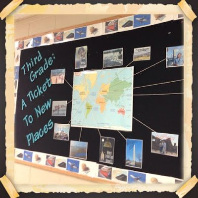 pre-k a ticket to new places. they draw pictures of places theyd like to visit. travel theme classroom