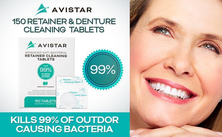 Avistar retainer denture cleaner tablets