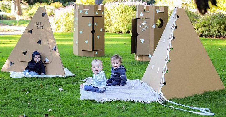 Adventures await with Emy Meets Lulu cardboard cubbies #CubbyHouses