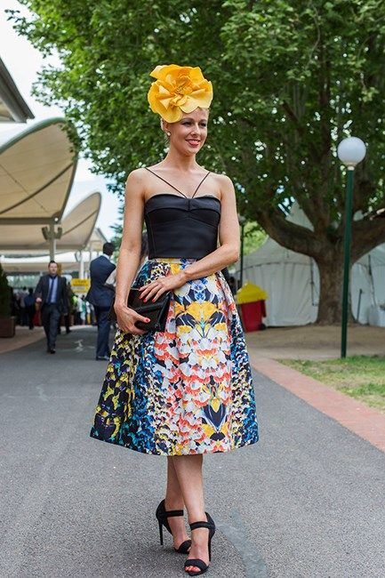 Daniella Casmi at Caulfield Guineas Day 2014 in Melbourne