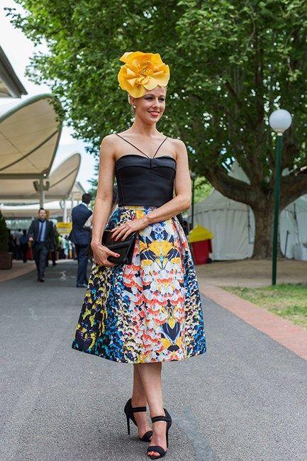 Daniella Casmi at Caulfield Guineas Day 2014 in Melbourne