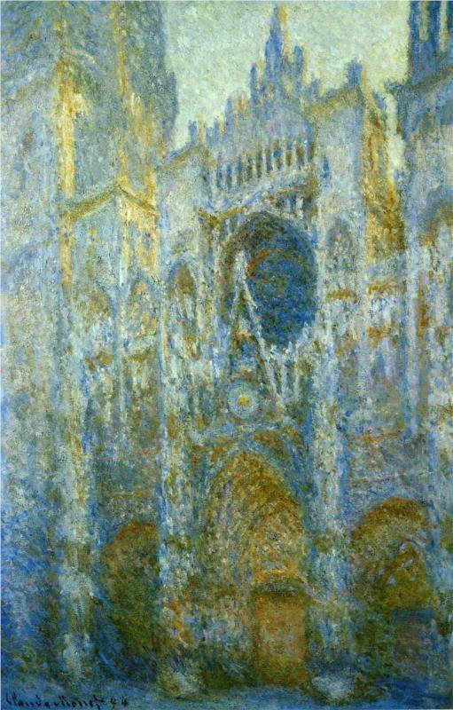"""Rouen Cathedral, West Facade, Noon"" - Claude Monet"