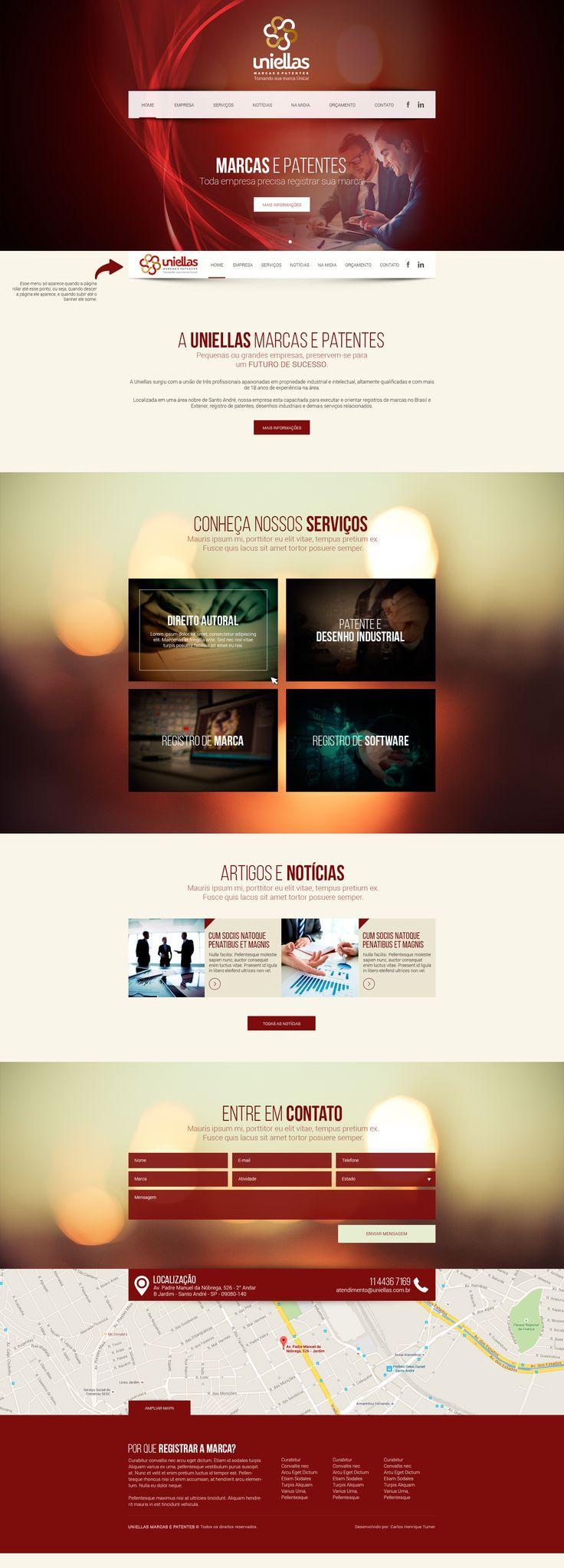 Website, Webdesigner, Onepage. Carlos Henrique Turner Cdesigner