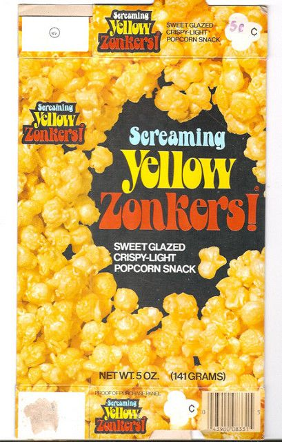 Vintage Screaming Yellow Zonkers Box 1960s Food Best