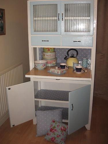 Vintage retro 1950's kitchen cupboard/ kitchenette by Ellis - very shabby chic! | eBay