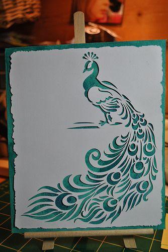 Peacock silhouette.