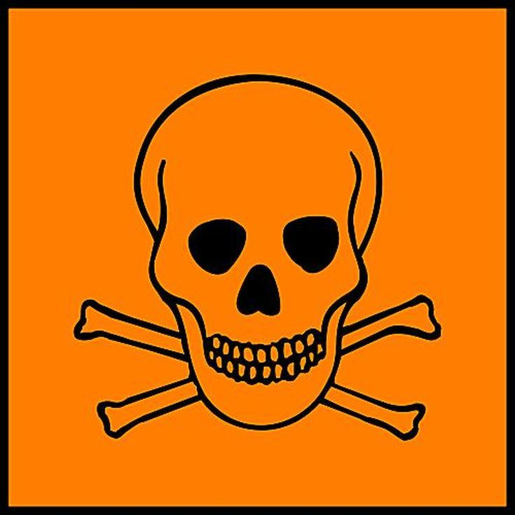 Science Laboratory Safety Signs: Orange Toxic - Safety Sign