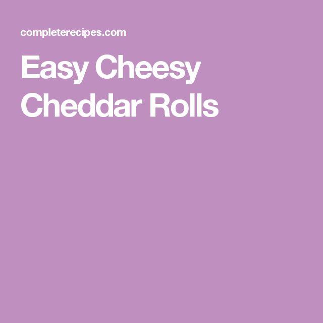 Easy Cheesy Cheddar Rolls