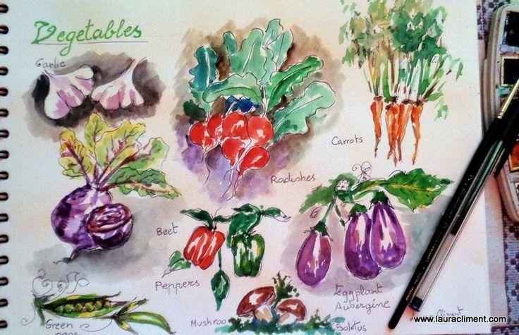 Watercolor on sketchbook-