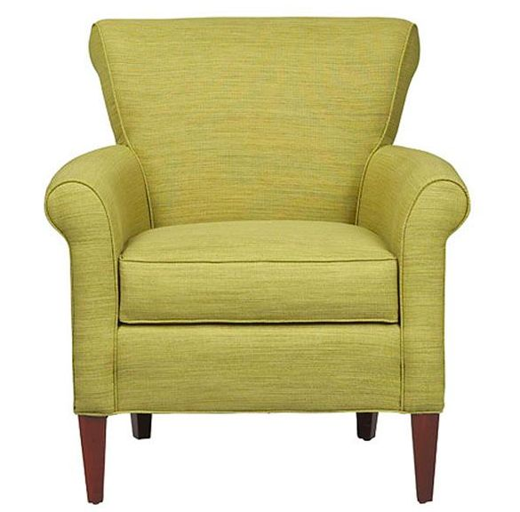 Add a little touch of green to your colorscape with the Clover Chair from CORT. With a compact profile and stylish rolled arms, this chair is perfect for getting comfy in small spaces. || Clover Chair furniture.cort.comLiving Room