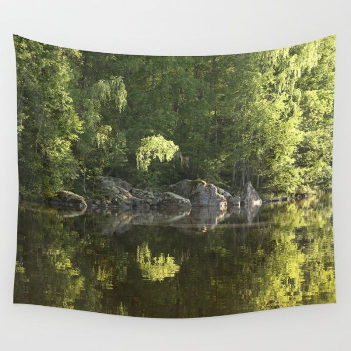 Forest Reflection  Wall Tapestry