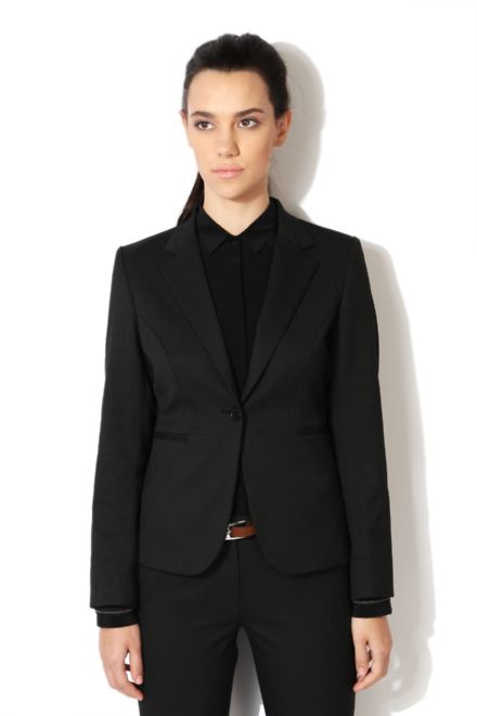Buy Van Heusen Woman Suits & Blazers online at Vanheusen.com - Shop Online for Van Heusen Woman Van Heusen Black Blazer for…