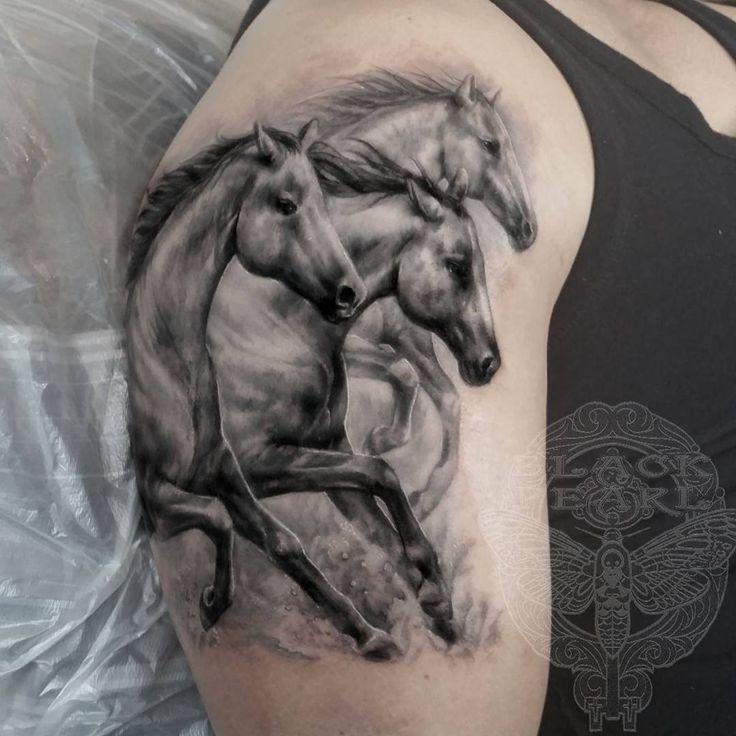 Wild Horses. #horsetattoo #horse #wildhorses #tattoo