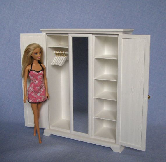 schrank f r 12inch puppe 1 6 scale barbie puppe haus m bel barbie m bel pinterest barbie. Black Bedroom Furniture Sets. Home Design Ideas