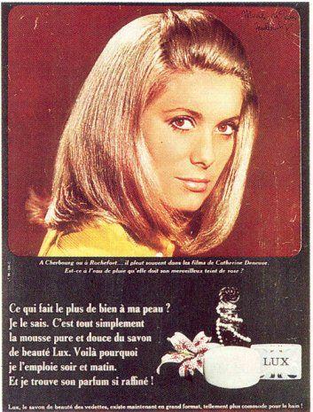 0 catherine deneuve 1967  Savon LUX soap ad