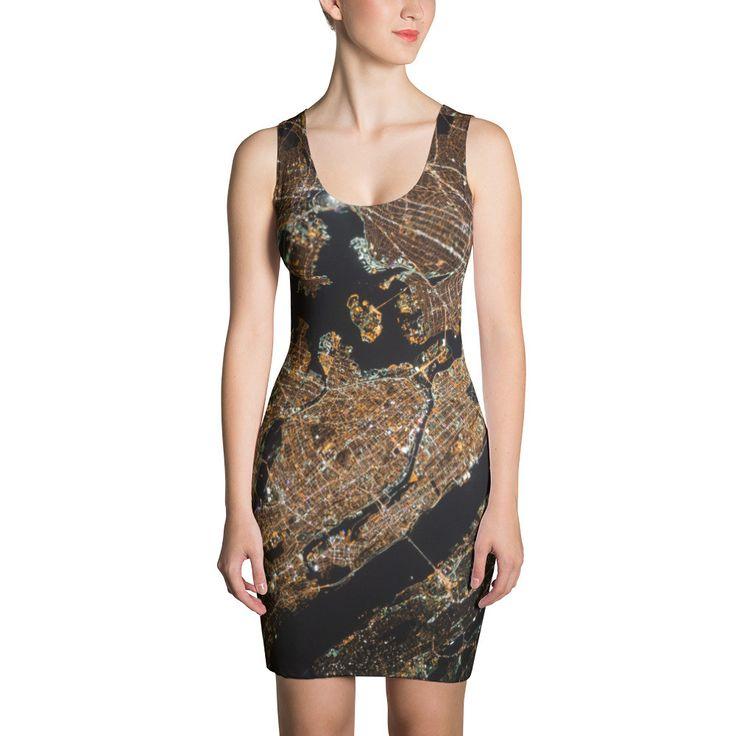Aerial Map Artwork Printed Sublimation Cut & Sew Dress