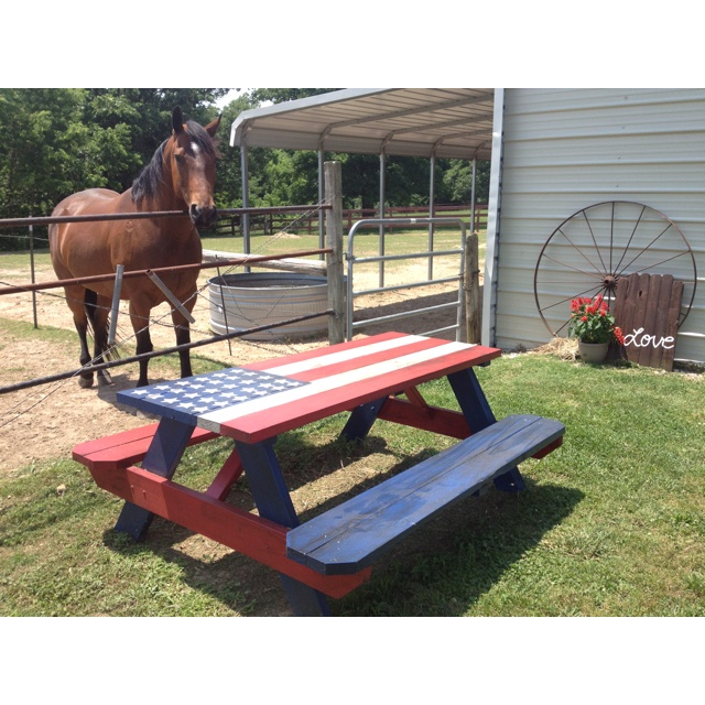 Painted This Picnic Table For The Farm! :)