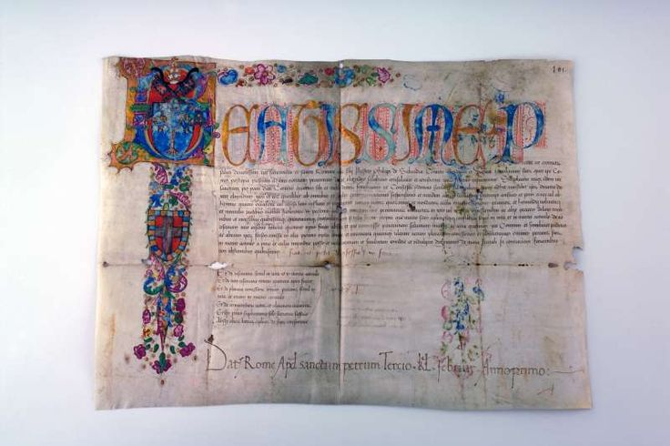 Illuminated Papal Fiat Initialed by the Pope in 1471.  Pope Sixtus IV, Francesco della Rovere (1414-1484)