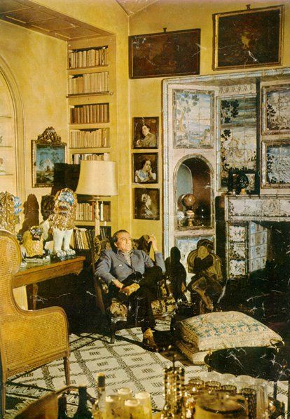 Luchino Visconti at home in Milan