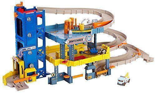 Matchbox-Garage-Play-Set-4-Level-Toys-Kid-Boy-Car-Wash-Elevator-Fixing-Xmas-Gift