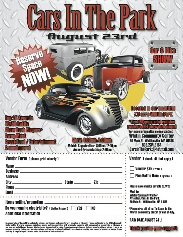 19 best Car Show Registration Forms images on Pinterest Car show - registration forms