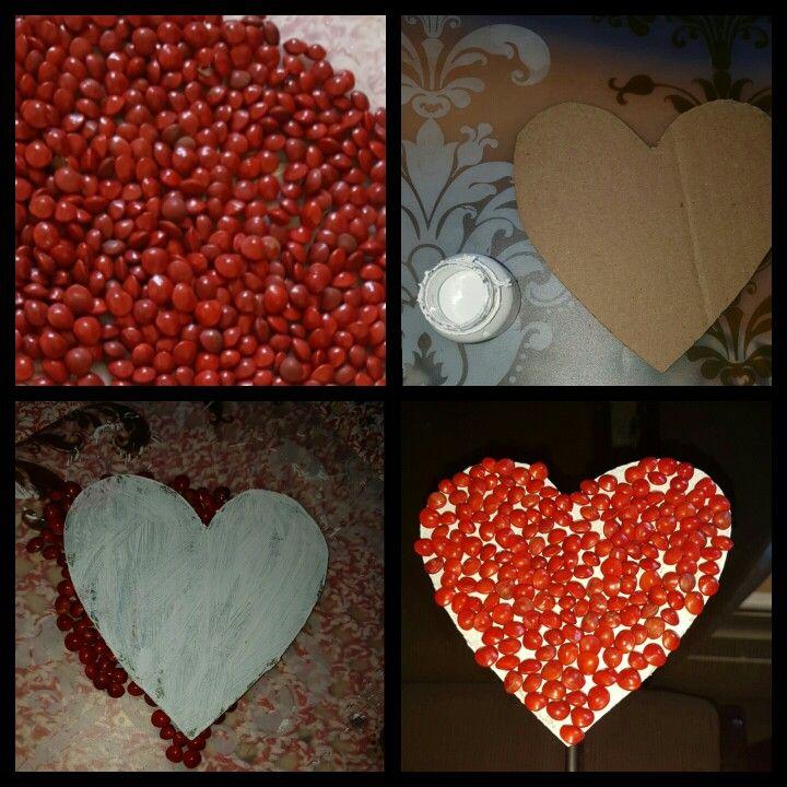 Coração de papelão e sementes... ❤