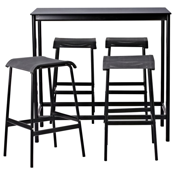 Garpen bar table and 4 bar stools ikea small patio for Bar stool table
