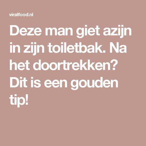 Deze man giet azijn in zijn toiletbak. Na het doortrekken? Dit is een gouden tip!