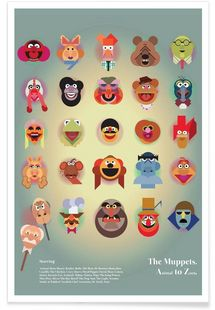A to Z of The Muppets - Marcus Marritt - Premium poster