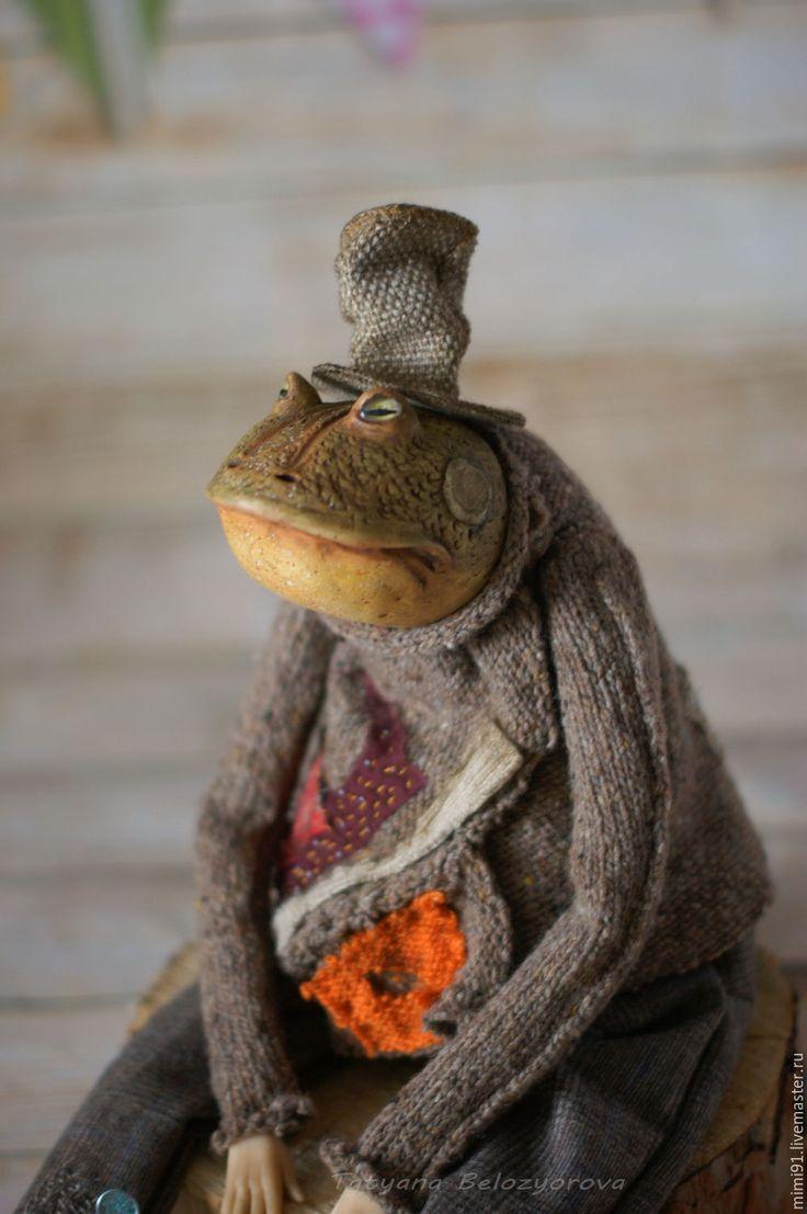 Купить Мистер ЗенЛи и Мистер ВельЗи - комбинированный, жаба, муравьед, Будуарная кукла, папьемаше, ладолл