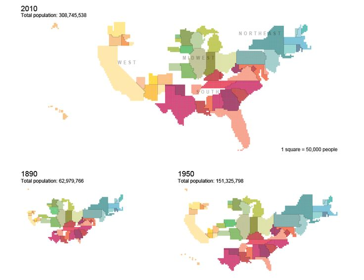Best Map Examples Images On Pinterest Cartography - Us map scaled by population