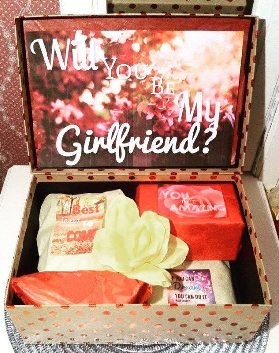 Will You Be My Girlfriend Box Custom You Are by YouAreBeautifulBox
