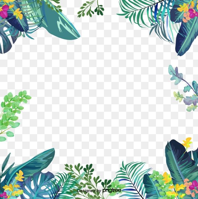 Green Small Fresh Border Border Taobao Border Small Fresh Border Png And Vector With Transparent Background For Free Download Leaf Drawing Floral Border Design Flower Border