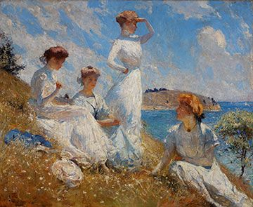 Summer - Frank W. Benson 1909   Always cool to tie in art with the coverage of literary periods.